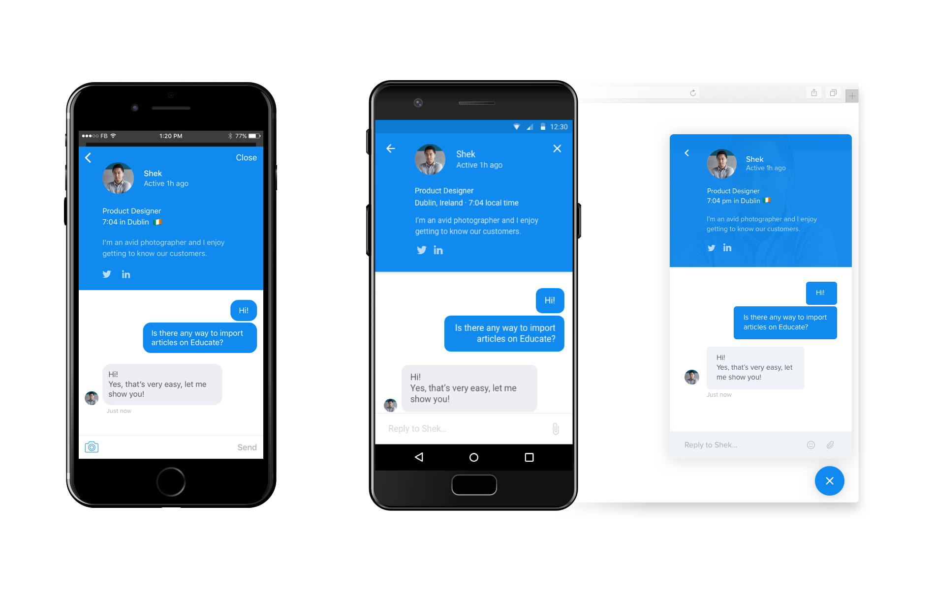 The new version of Intercom's messenger