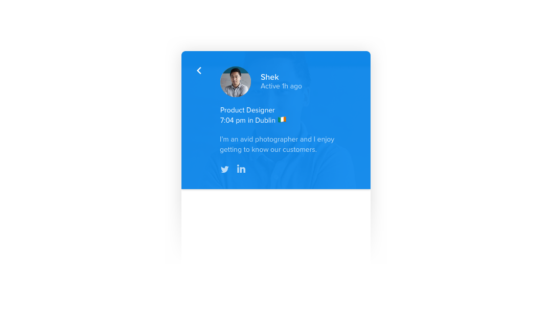 Messenger profile